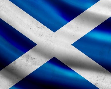 Grunge Scotland flag photo