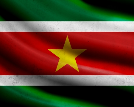 Grunge Surinam flag photo