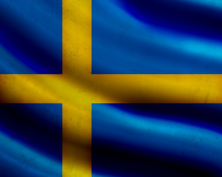 Grunge Sweden flag photo