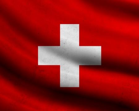 zwitserland vlag: Grunge vlag van Zwitserland