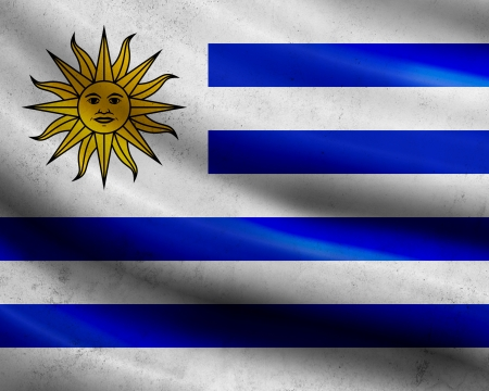 uruguay flag: Grunge Uruguay flag