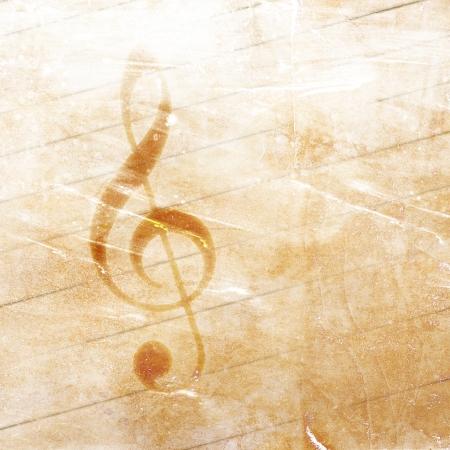 edges: musical grunge background