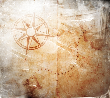 Old treasure map 스톡 콘텐츠