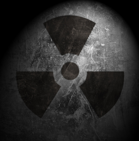 sign of radiation on grunge background Stock Photo - 19956841