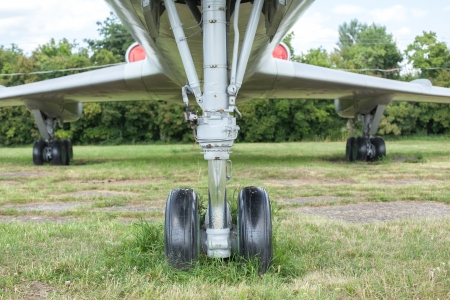 undercarriage: Undercarriage of the airplane  Stock Photo