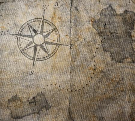 mapa del tesoro: Antiguo mapa del tesoro Foto de archivo