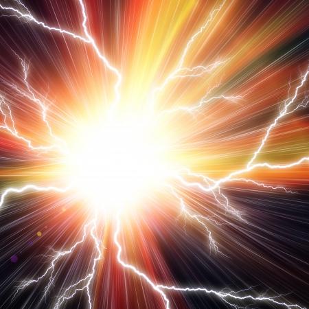電気フラッシュ バック グラウンド 写真素材