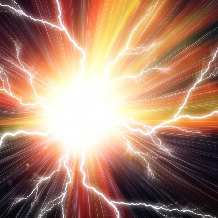 Electric flash background Standard-Bild