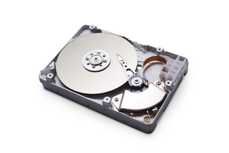 hard drive crash: Hard disk drive HDD isolated on white background with clipping path