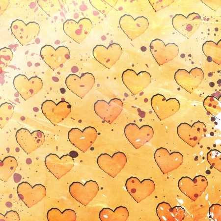 hearts on grunge background photo