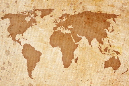 old rustic map: vintage map of the world