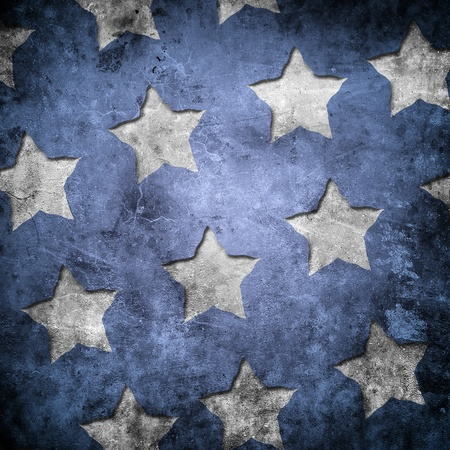 grubby: abstract background with stars on blue Stock Photo