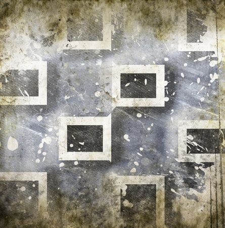 chessboard: Grungy chessboard background with stains