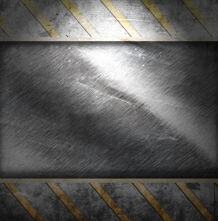 ironworks: metal background with stripes