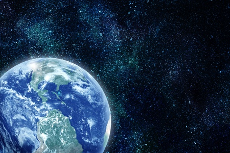 realistic planet earth in space. Elements of this image furnished by NASA  photo