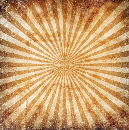 Grunge orange sun rays background photo