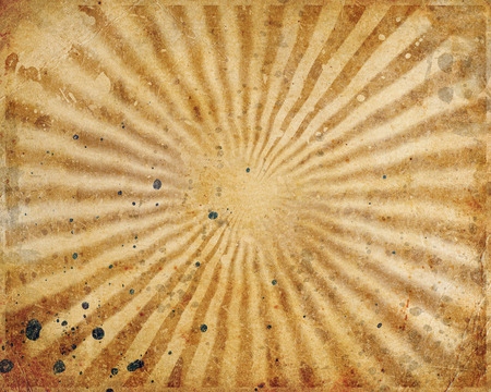 Vintage scratched sun rays on grunge background  photo