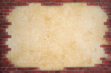 brick background: Background of red brick wall with place for text