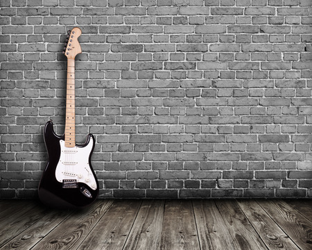 electric guitar in the room photo