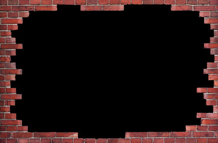 Background of red brick wall with place for text photo