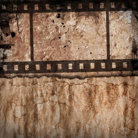 grunge background with film stripe