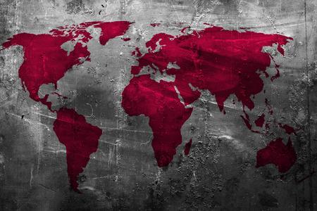 抽象的なグランジ背景上の世界地図