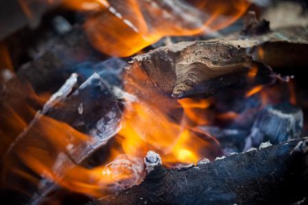 blazing fire photo