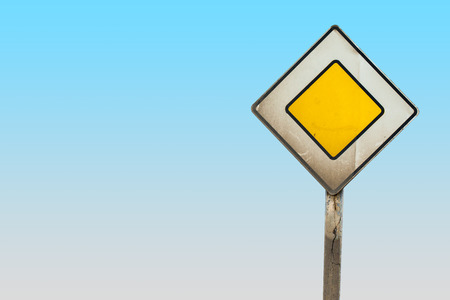 main road sign with clipping path photo