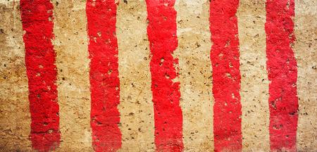 lineas blancas: l�neas rojas y blancas Foto de archivo
