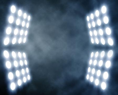 人工的な煙でステージのスポット ライト 写真素材