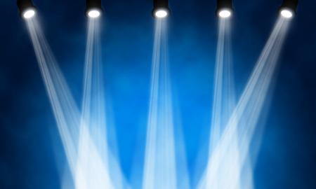明るい舞台用スポット ライトのイラスト