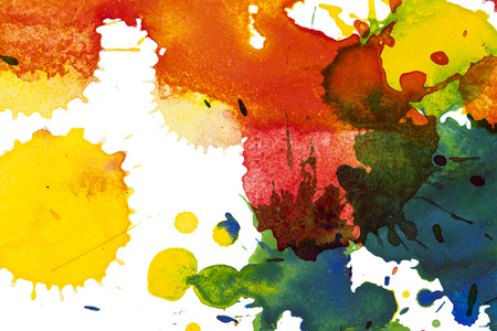 Watercolor blots background Stock Photo