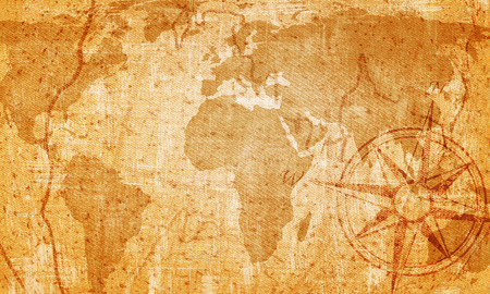 Old map on vintage background photo