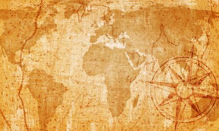 Old map on vintage background photo