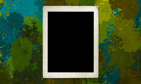 photo frame on military grunge background photo