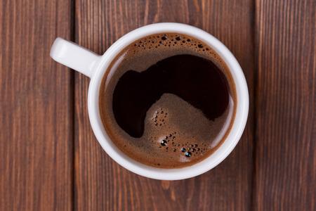 espresso coffee on wooden background photo