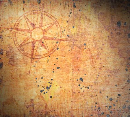 Antiguo mapa del tesoro Foto de archivo - 33140189
