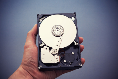 hard component: Hard disk drive HDD in hand