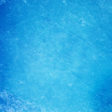 Textured ice blue frozen rink winter background Stock Photo
