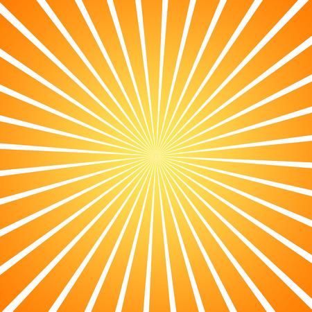 sun burst: sun burst orange gradient background Stock Photo