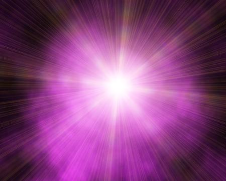 Abstract flash light on purple background