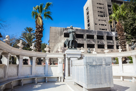 egypt revolution: CAIRO, EGYPT - JAN 31, 2015: The Egyptian Museum in Cairo, Tomb of Auguste Mariette, Egyptian Museum, Cairo Editorial