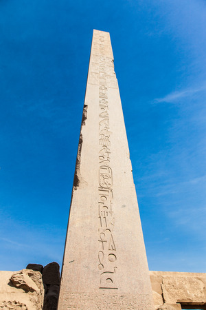 obelisc: Obelisk in the temple of Karnak, Luxor, Egypt
