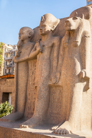 egyptology: One of the monuments at the Egyptian Museum in Cairo