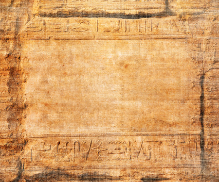 papyrus: old egypt hieroglyphs with place for text Stock Photo