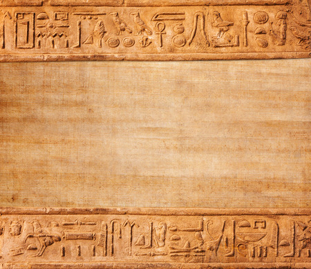 old egypt hieroglyphs with place for text Foto de archivo