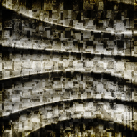 shredded: abstract grunge background with folds