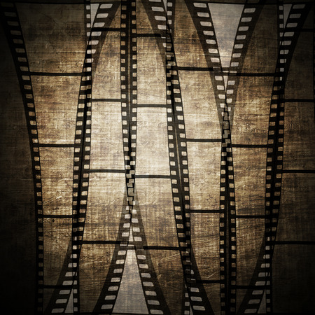 gray strip backdrop: Vintage background with film frame