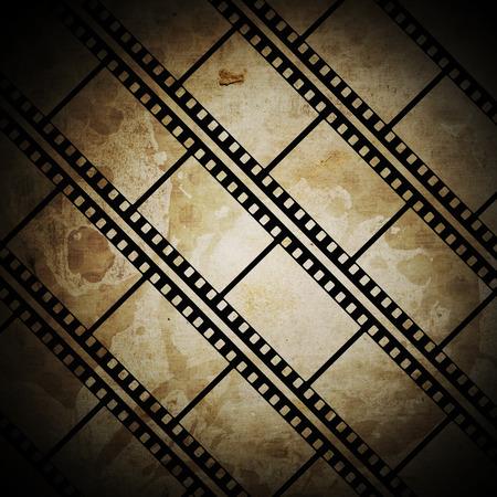 emulsion: Vintage background with film frame