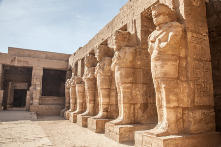 ruins is ancient: Ancient architecture of Karnak temple in Luxor, Egypt